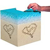 """Creative Converting Beach Love Card Box, 12"""", Blue/Brown"""
