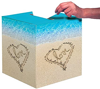 amazon com creative converting wedding card box beach love