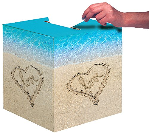 Creative Converting Wedding Card Box, Beach Love]()