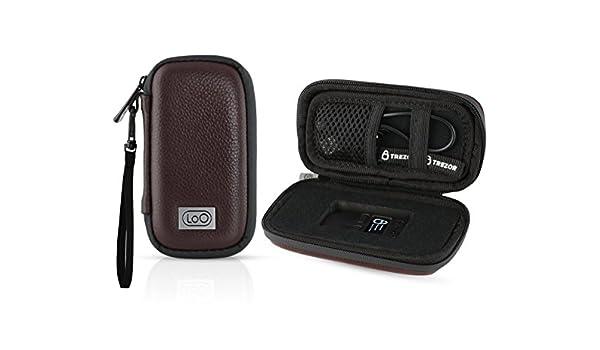 Black Trezor Hardware wallet for BTC LTC Dash Zcash Includes Brown leather case