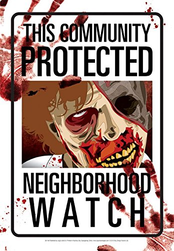Zombies Neighborhood Watch Tin