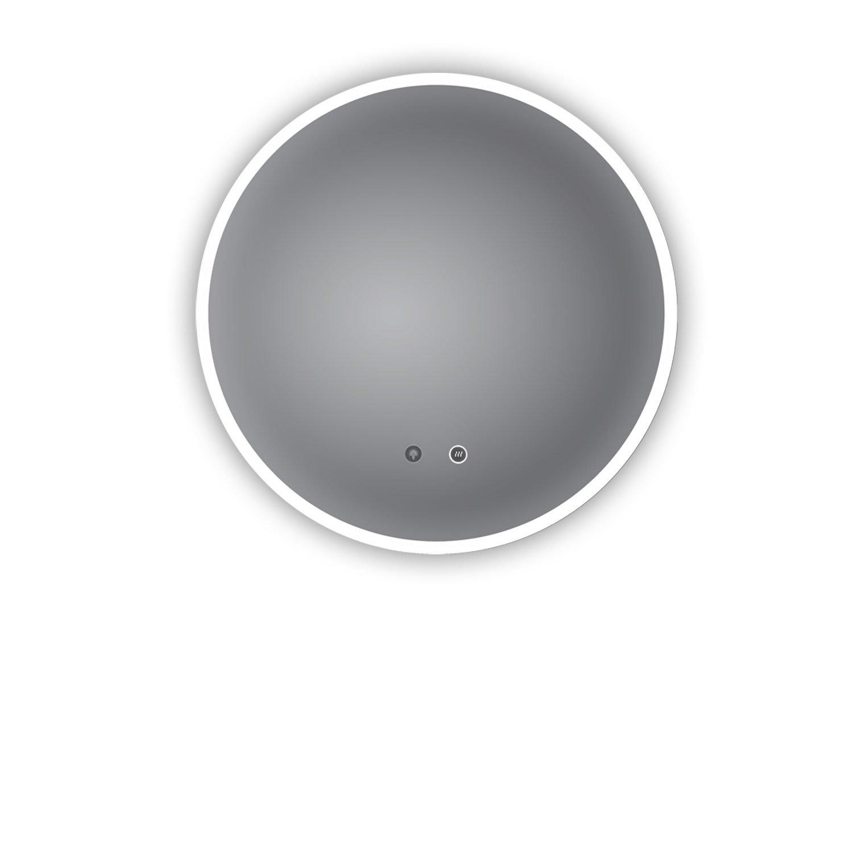 Top Azione. LED Specchio Da Bagno Ulm 60cm rotondo, con specchio anti-appannamento riscaldamento, esterno LED illuminato, Specchio da bagno con luce rotonda, classe di efficienza energetica A + PonteSino GmbH