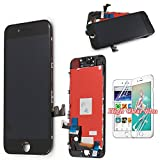LCD Display for iPhone 7 Touch Screen - Black Digitizer Glass Lens Assembly Repair Replacement LCD +Free Clear Screen Protector