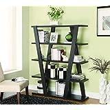 Coaster Bookshelf with 5 Open Shelves in Cappuccino