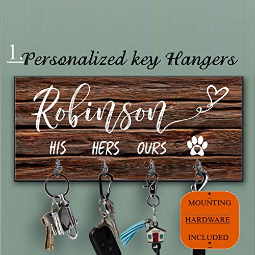 Personalized key holder and Dog Leash hanger for wall, Dog lovers Key Hanger,Personalized Key Ring Holder, Custom Key Holder For Wall, Personalized Key Hanger, Housewarming Gift, Leash Holder]()