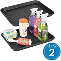 2-Set iDesign Plastic Under The Sink Drip Protector Tray