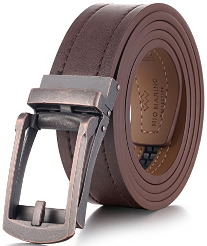 """Marino Avenue Genuine Leather belt for Men, 1.3/8"""" Wide, Casual Ratchet Belt with Automatic Linxx Buckle"""