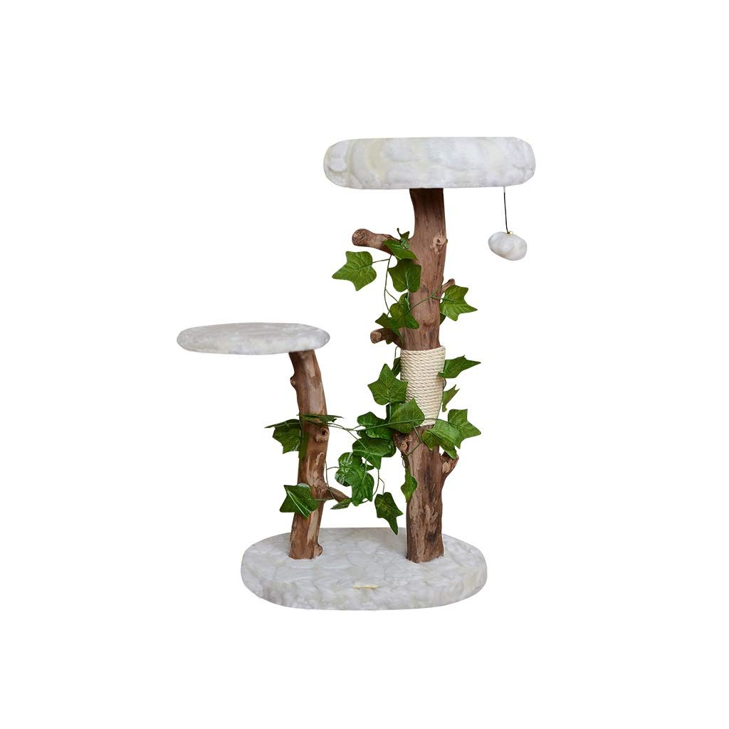 B JIY-Play Towers & Trees Cat climbing frame cat shelf cat litter cat tree villa large cat climbing tree solid wood cat jumping platform with nest (color   B)