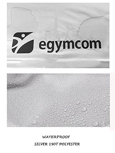 egymcom Treadmill Cover, Sports Running Machine Protective Folding Cover Dustproof Waterproof Indoor/Outdoor Cover(Silver Color) by egymcom (Image #4)