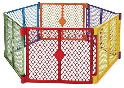 North States Superyard Lightweight & Portable Play Yard (6 Panels) by Everything Jingle Bell