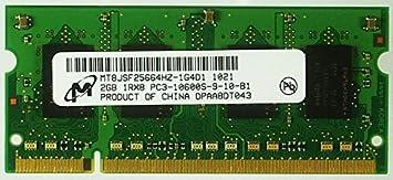 LOT OF 10 Micron 2GB PC3-10600 DDR3-1333 Laptop Memory RAM MT8JSF25664HZ-1G4D1