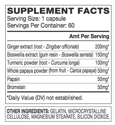 Advocare Digest-Ease Herbal Supplement with Digestive Enzymes - 60 Capsules