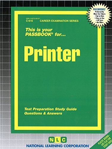 - Printer (Career Examination Series : C-C16)