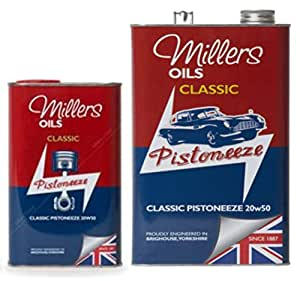 Millers Classic Pistoneeze 20w50 - Aceite Mineral para Motor, 6 ...