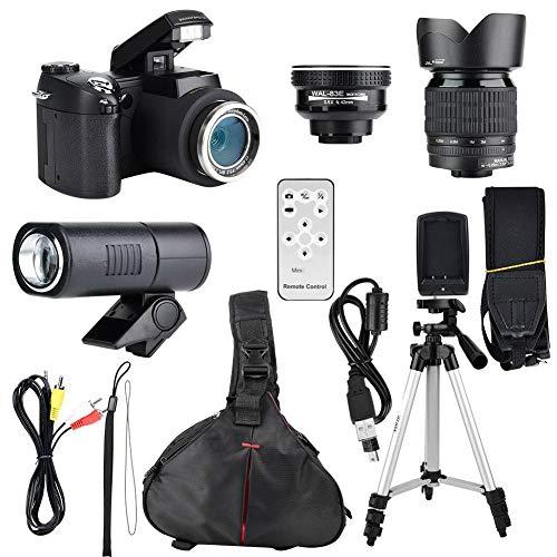 HD Digital camera Kit,33MP HD D7300 Camcorder Camera Wide Angle Lens + 24X Telephoto Lens + LED + Tripod, New Year's…