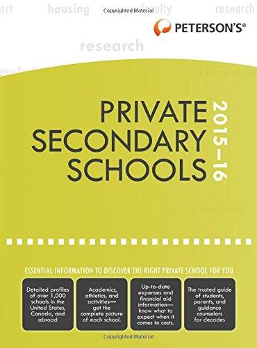 Private Secondary Schools 2015-2016