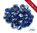 LI DECOR 10 Pounds Fire Glass 'Fire-Diamonds' Semi-Reflective for...