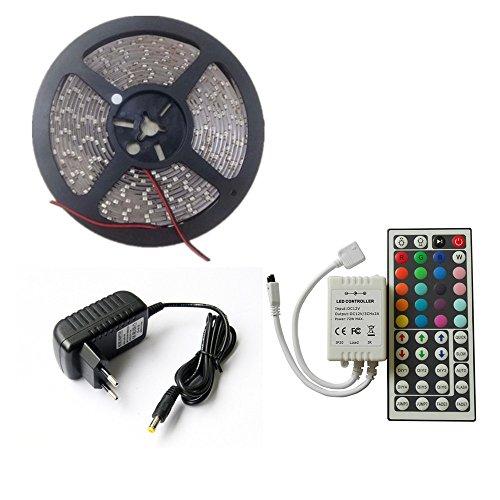 SpeedControl Fashionable RGB 5M 3528 LED Strip Light 300leds + 44key IR Remote Control+ 12V Power Supply