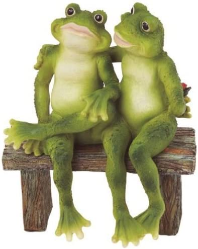 George S Chen Imports SS-G-61047 Frog On Hammock Garden Decoration Collectible Figurine Statue Model