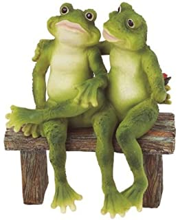 Superbe George S. Chen Imports SS G 61040 2 Frogs On Bench Garden Decoration