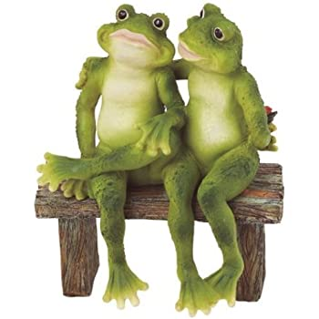 amazon com george s chen imports ss g 61040 2 frogs on bench