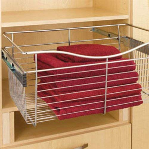 Rev-A-Shelf - CB-181611SN-1 - Satin Nickel Closet Pull-Out Basket (Cb Baskets Series)