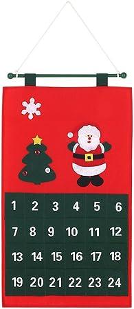 Calendario de Adviento de Navidad decdeal disfraces tela no tejida ...