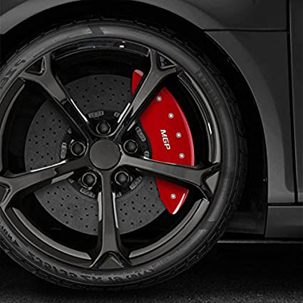 Amazon.com: Upgrade Your Auto Set of 4 Red MGP Caliper Covers for 2007-2013 Mazda 3 Mazdaspeed/S 2.3L: Automotive