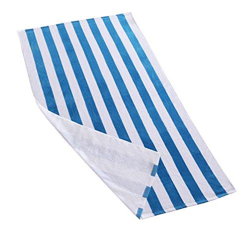 Exclusivo Mezcla Cabana Striped Towel - blue