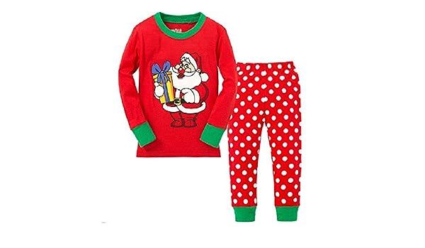 35381bbc1dd9 Amazon.com  Hooyi Baby Girl Sleepwear Cotton Children Christmas Gift ...