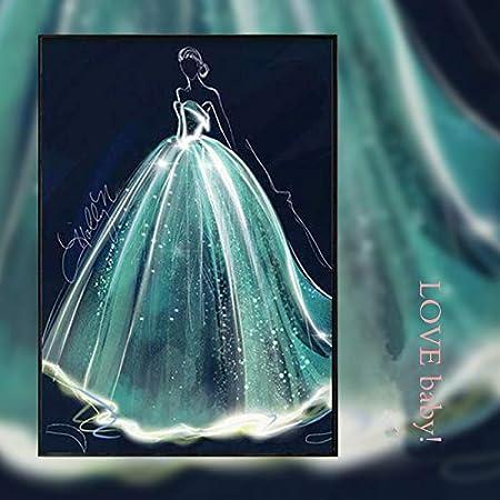 SWECOMZE 5D Diamant Stickerei Full Drill DIY Diamond Painting Wand Dekoration Geschenk 60 * 90cm #1 Elch