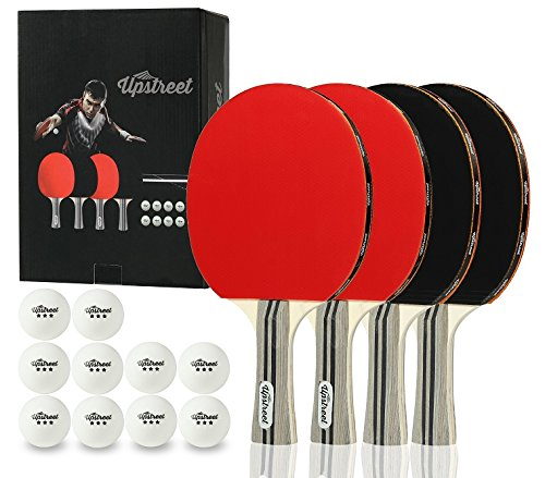 Upstreet Ping Pong Paddle Set Includes 4 Ping Pong Paddles