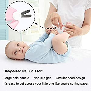 FE 4pcs Set Baby Nail Clips Scissors Nail File Tweezers Set Manicure Kit for Newborn Infant