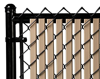 Beige Double Wall Bottom Lock Fence Slat for 6ft Chain Link