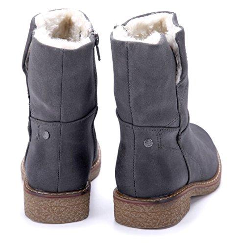 8d721aa500b2ac Schuhtempel24 Damen Schuhe Klassische Stiefeletten Stiefel Boots  Blockabsatz 3 cm Grau ...