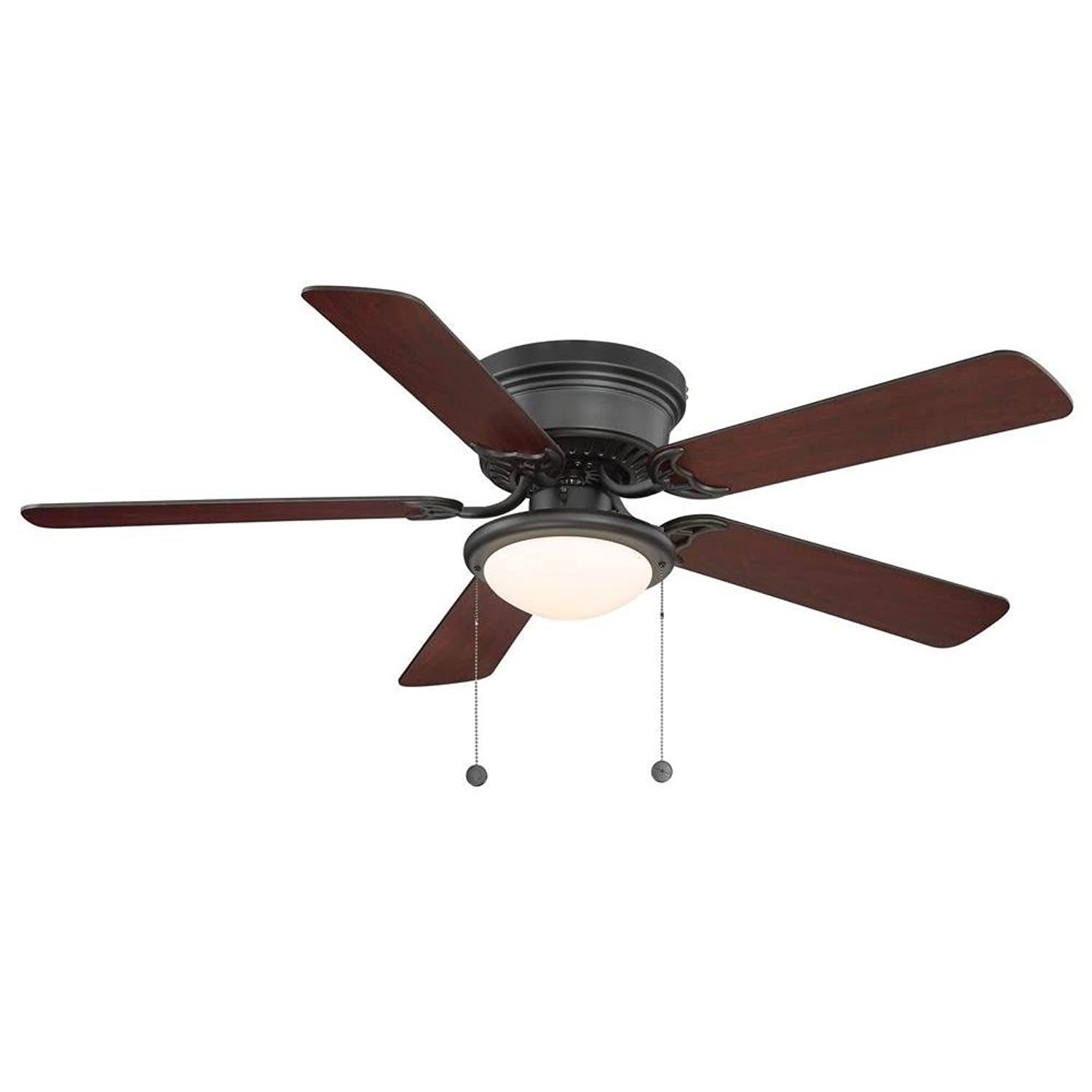 Amazon Hampton Bay Hugger 52 in Black Ceiling Fan Black