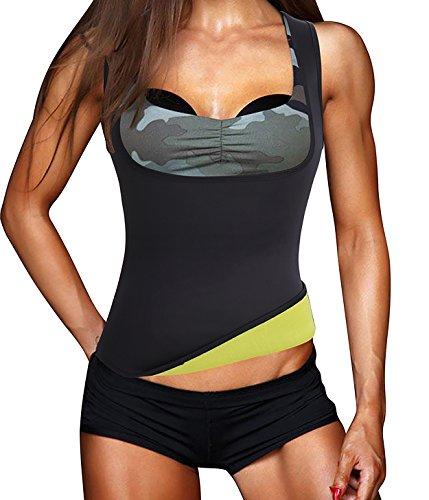 Eleady Womens No Zipper Hot Sweat Slimming Neoprene Shirt Vest Body Shapers for Fat Burner