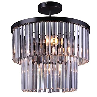 LALUZ Acrylic 2-tier Ceiling Lights Round Chandeliers