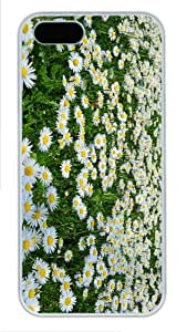 sparkly cover daisies margherite PC White Case for iphone 5/5S