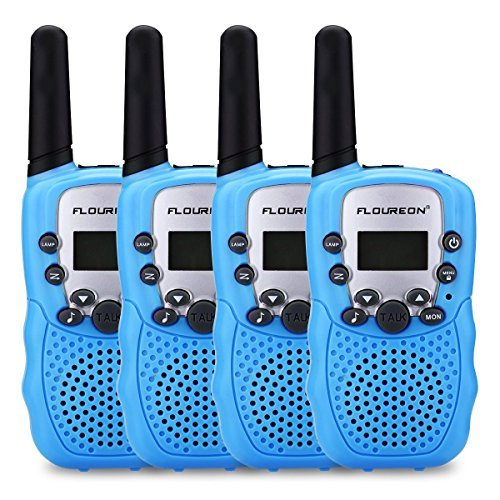 floureon Walkies Talkies for Kid Toy Walkies Talky 22 Channel Two Way Radios Long Range (Blue x 4) by floureon (Image #9)