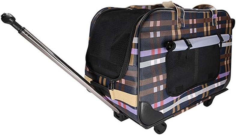 GJ Bolso de Cuatro Ruedas para Mascotas Estuche para Mascotas Carro para Perros Desmontaje Plegable Multi-Pet Trolley Bag (Color: Amazon.es: Hogar