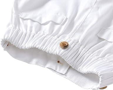 Edjude Costume Gentleman B/éb/é Gar/çon Ensemble de V/êtement Chemise+Shorts /à Manches Courtes Tenu Formel pour Marriage C/ér/émonie avec N/œud Papillon Bretelles 3M-5 Ans