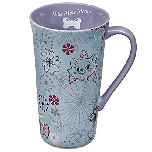 Disney Store Marie Latte Tall Mug Coffee Cup Purple The Aris