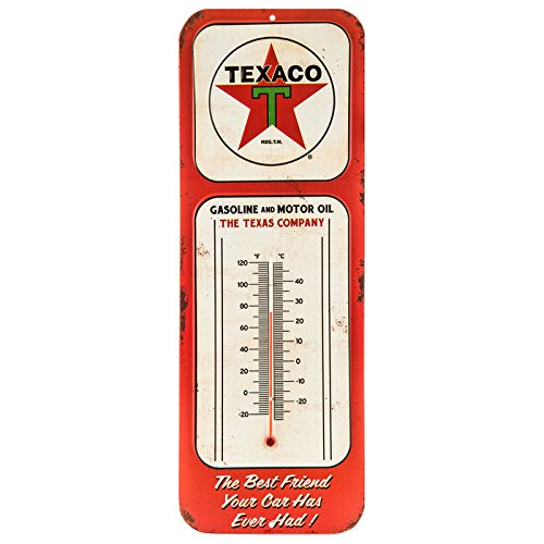 Texaco Gasoline and Motor Oil Co Vintage Style Thermometer 15 1/2'' x 5 1/2''