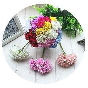 Mini Silk Artificial Rose Flowers Bouquet Wedding Decoration Fake Flower for DIY Scrapbooking Flower Ball 35