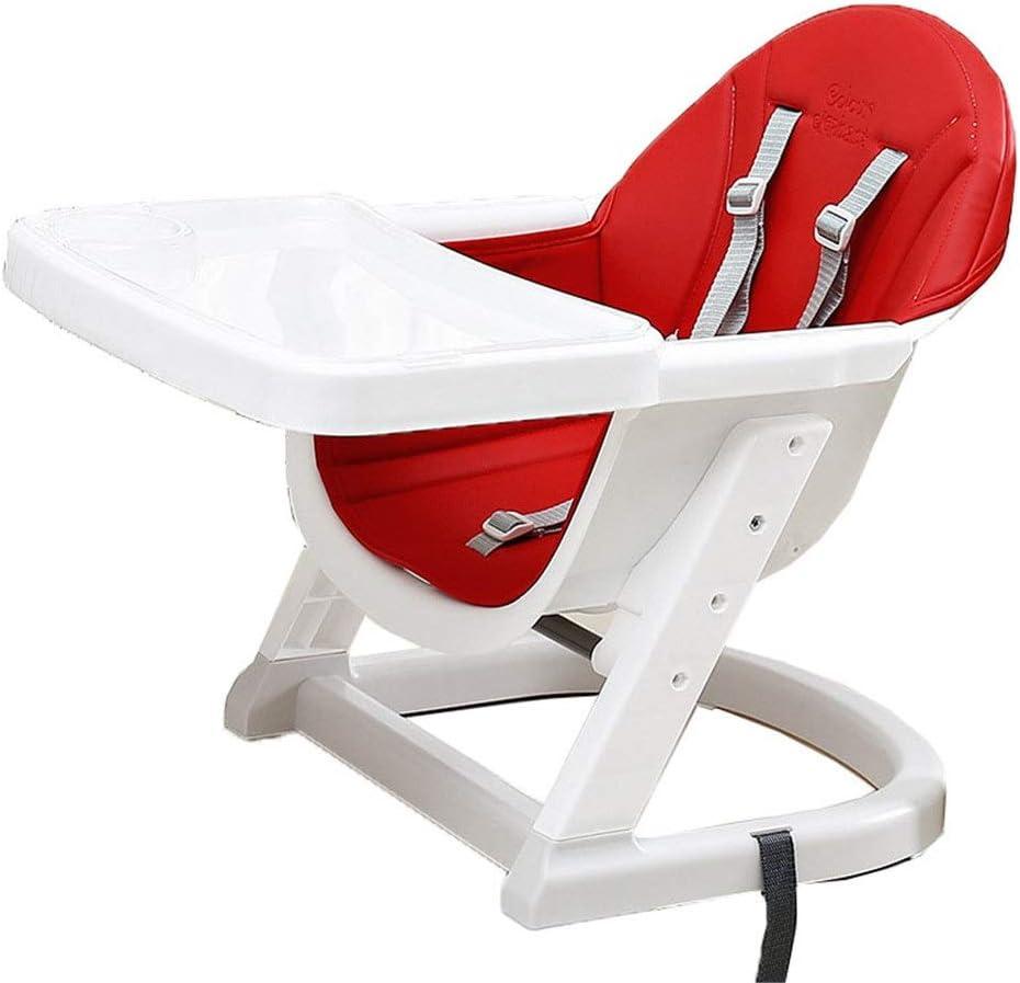 子供 お食事椅子 取り外し可能な椅子調節可能なポータブル多機能ベビーブースターシートの高さ折りたたみトレイ (色 : 赤, サイズ : 45*62*52cm)
