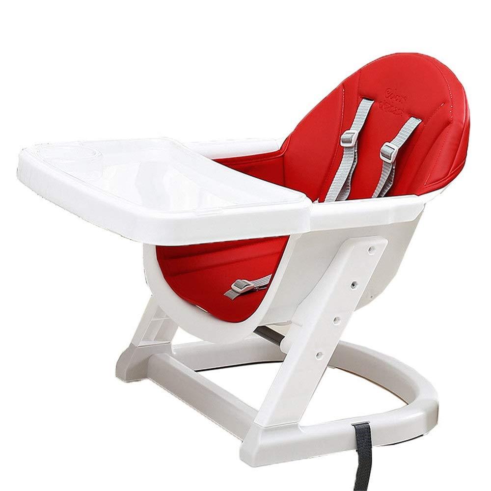 赤ちゃん ハイチェア子供 椅子 調節可能なポータブルブースターシート取り外し可能な椅子多機能赤ちゃんの高さ折りたたみトレイ (色 : 赤, サイズ : 45*62*52cm) 45*62*52cm 赤 B07TJMXVVJ