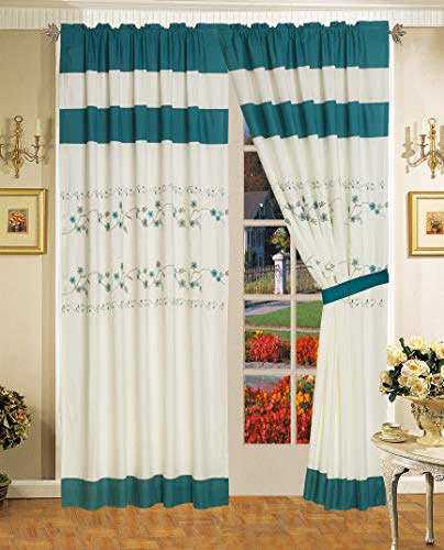 All American Collection New 6pc Embroided Floral Bedspread/Quilt Set (Curtain Set, ()
