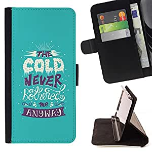 Momo Phone Case / Flip Funda de Cuero Case Cover - Fría Alaska cita divertida nieve del invierno - Sony Xperia Z5 Compact Z5 Mini (Not for Normal Z5)
