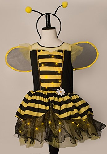 Costumes Little Bee (Bumble Bee Girls Light Up Costume (Size 4 to)